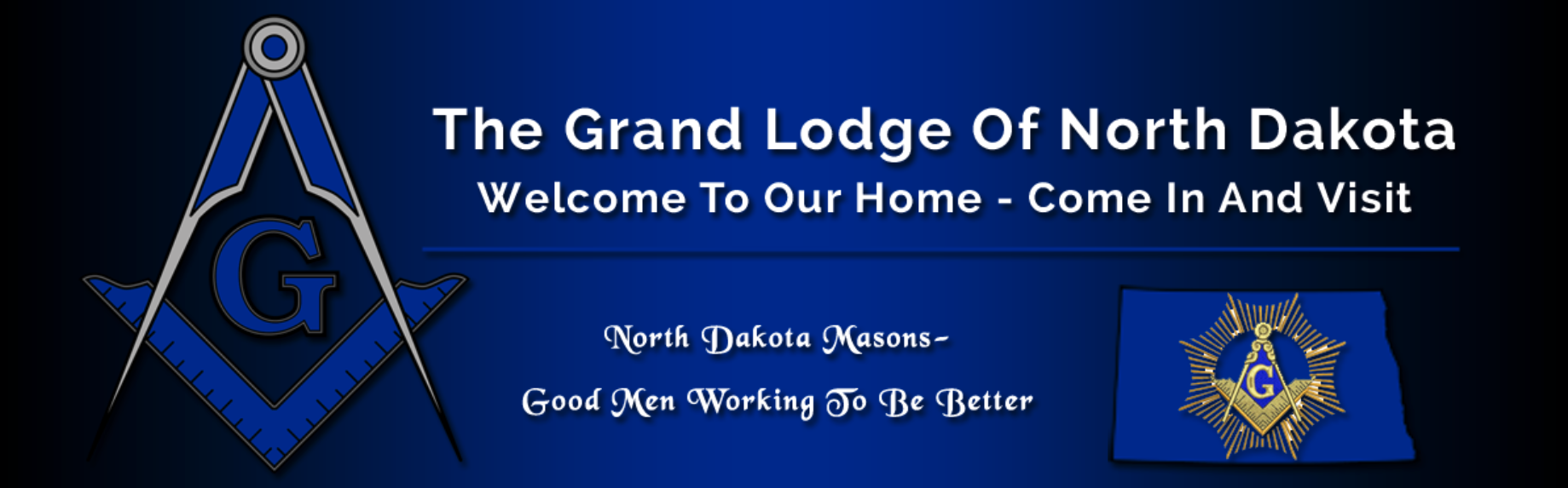 ND Masonic Lodge website header