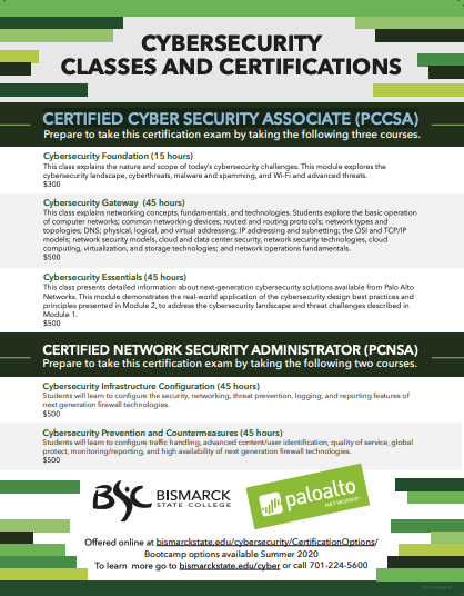 Industry Training and Certifications flyer