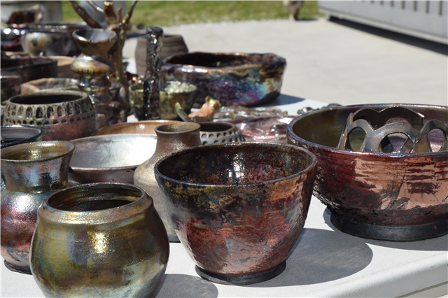 BSC campus hosts community raku, arts crawl, and graphics show