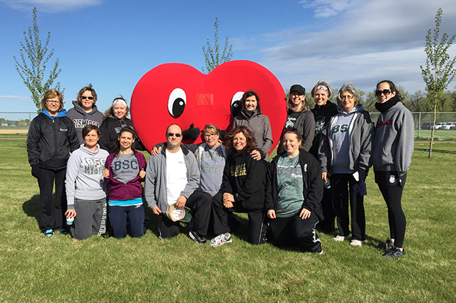 Bismarck State College named top team for the American Heart Walk