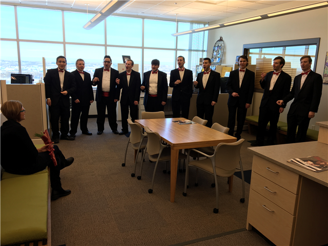 BSC Men's Ensemble selling sweet serenades for Valentine's Day