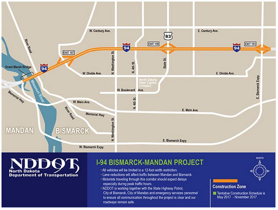 I-94 road construction project includes BSC exit