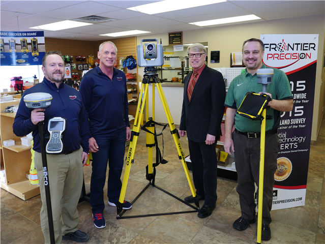 BSC partners with Frontier Precision to equip surveying lab