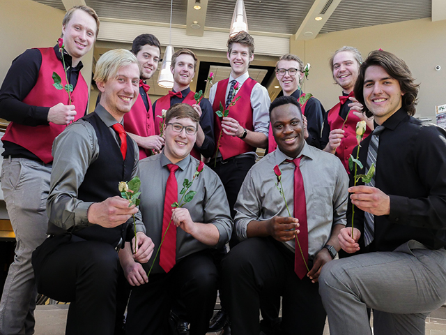 BSC men's ensemble will serenade your Valentine