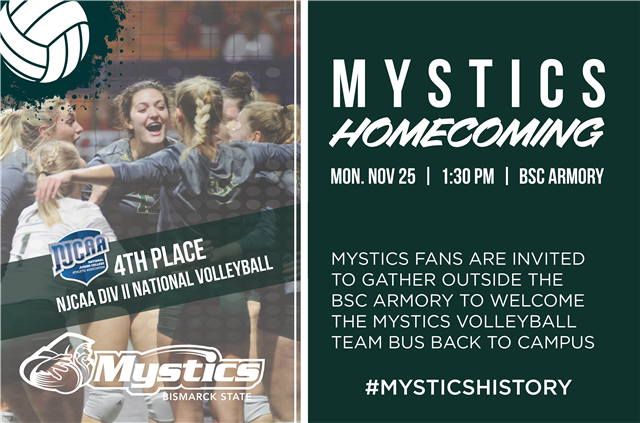 Community invited to Mystics Volleyball Team Homecoming, Nov. 25